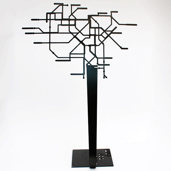 porte bijoux design m tal noir amsterdam arbre bijoux. Black Bedroom Furniture Sets. Home Design Ideas