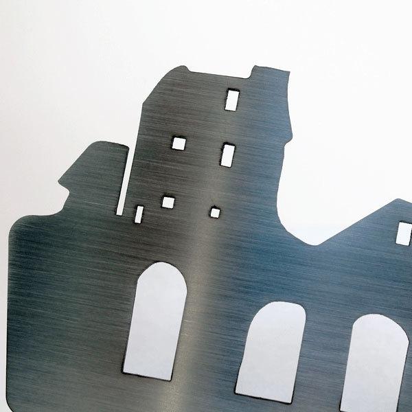 porte lettres m tal inox village porte courrier design original. Black Bedroom Furniture Sets. Home Design Ideas