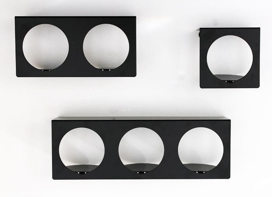 Etag re noire murale design tag re cube modulable zoom en - Etagere murale cube noir ...