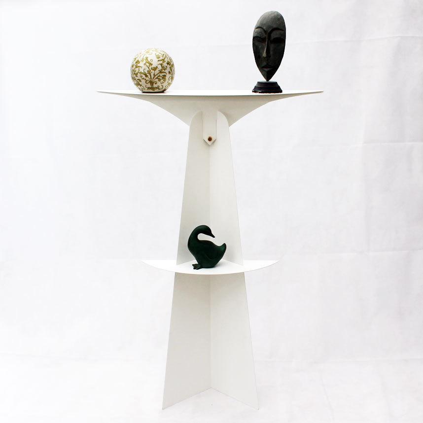 etag re sur pied blanche tag re poser design console. Black Bedroom Furniture Sets. Home Design Ideas