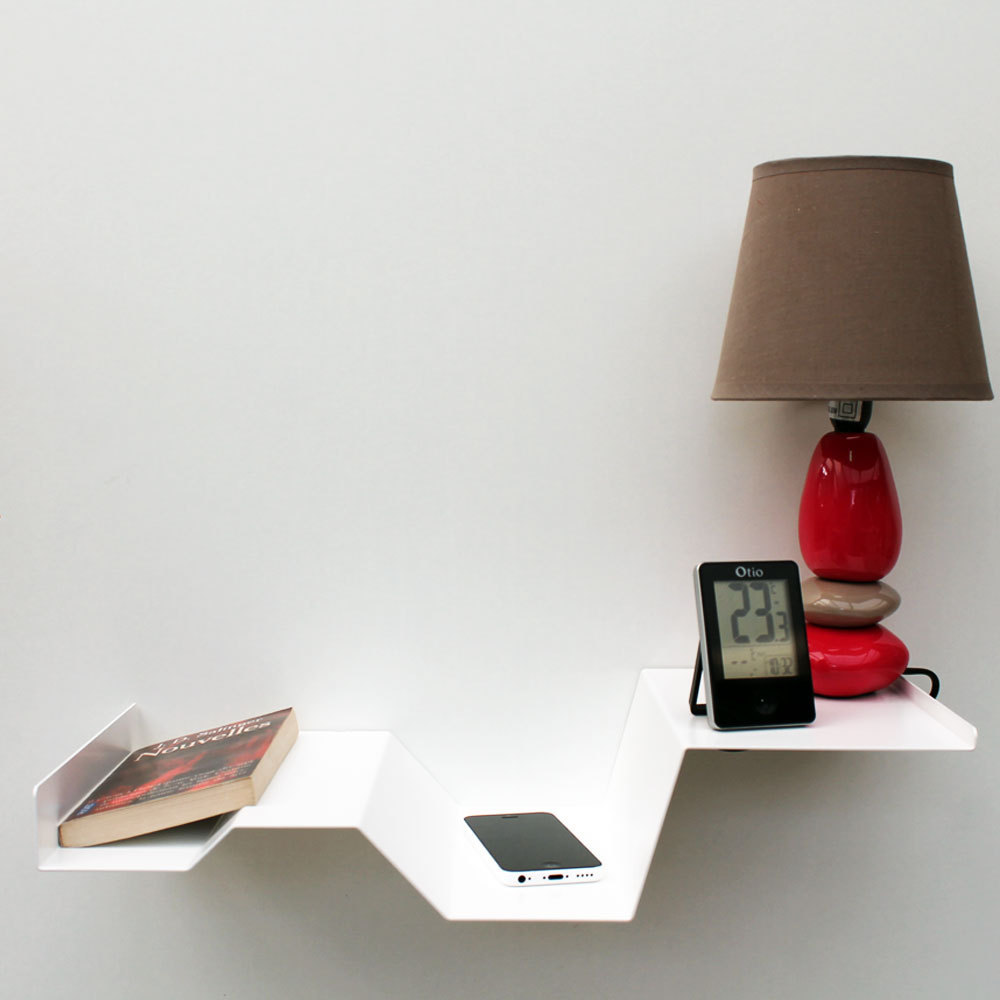 chevet suspendu blanc m tal chevet mural design table de. Black Bedroom Furniture Sets. Home Design Ideas