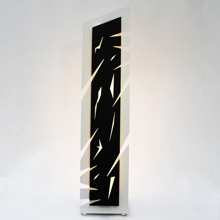 lampe poser design blanc noir lampe de chevet moderne led. Black Bedroom Furniture Sets. Home Design Ideas