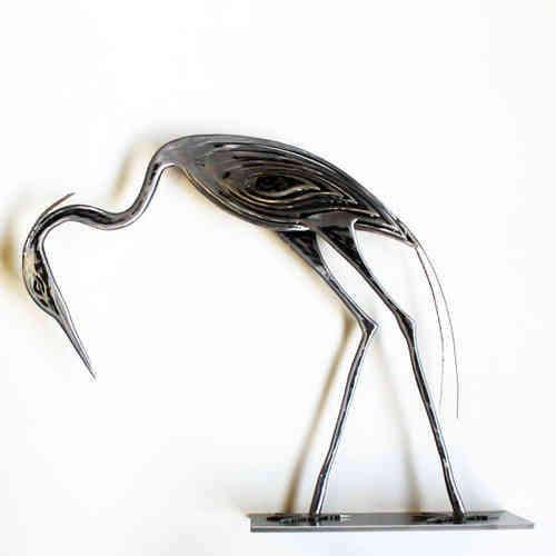 sculptures de h ron statue d 39 int rieur design en acier brut. Black Bedroom Furniture Sets. Home Design Ideas