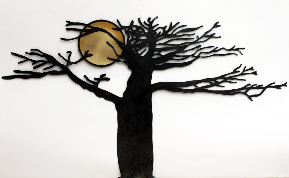 D coration murale arbre et soleil d coration murale design - Decoration murale en metal design ...