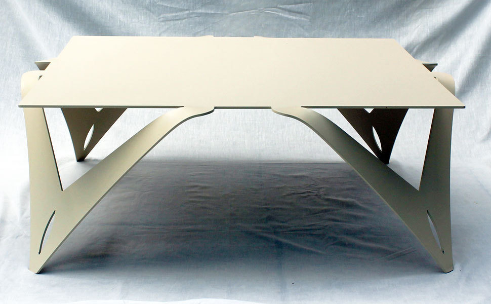 table basse blanche ivoire table basse carr e design m tal acier. Black Bedroom Furniture Sets. Home Design Ideas
