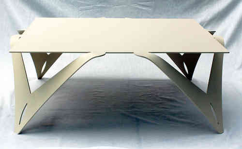 Table basse design blanche ivoire