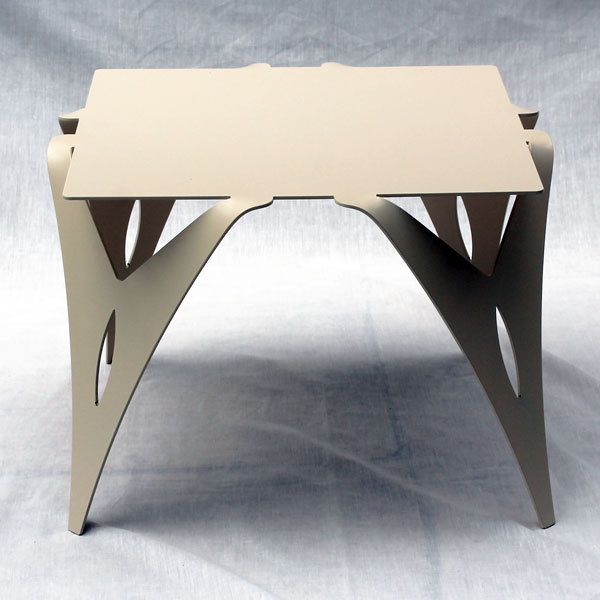 Bout de canap table de chevet design moderne m tal objectal - Bout de canape metal blanc ...