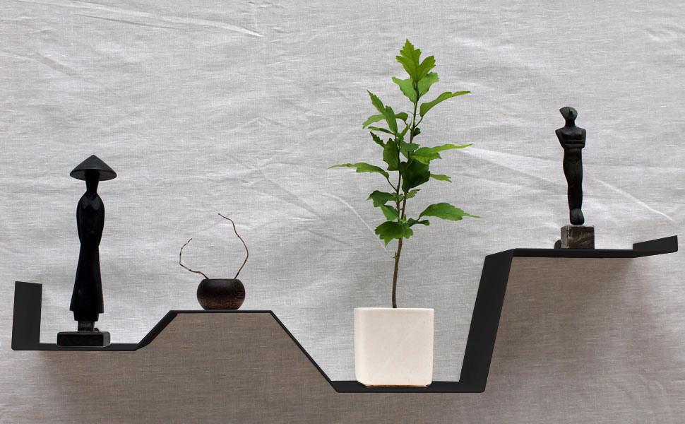 etag re murale noire moderne tag re design d co tablette murale. Black Bedroom Furniture Sets. Home Design Ideas