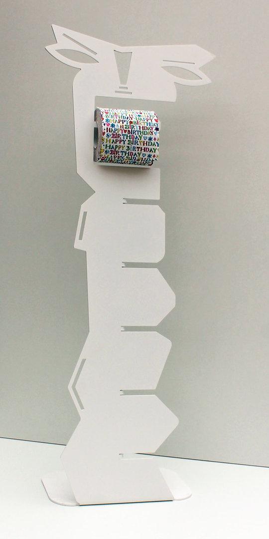 Porte Papier Toilette Sur Pied Blanc Derouleur Wc Design Et Deco