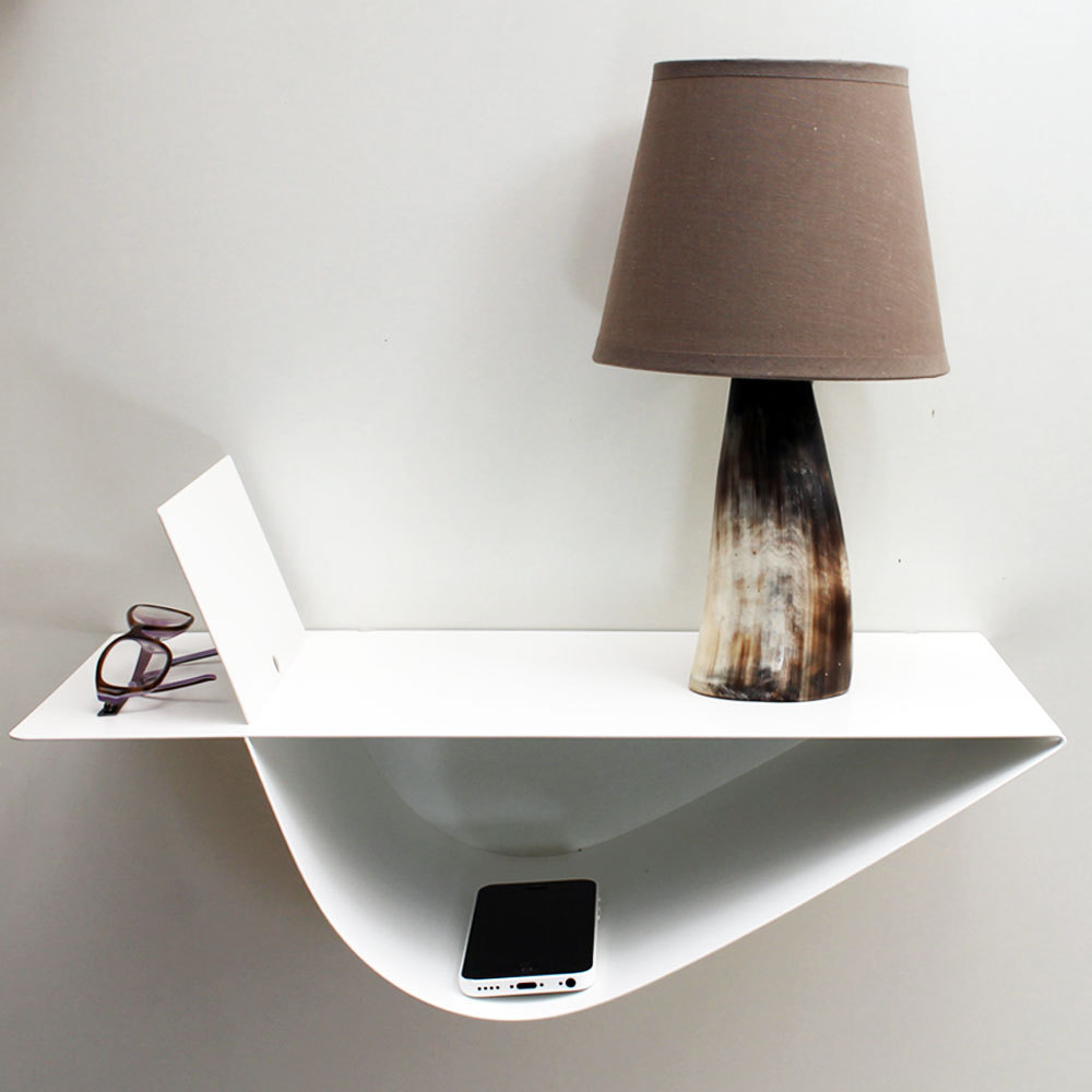 chevet suspendu design table suspendue chevet mural blanc moderne. Black Bedroom Furniture Sets. Home Design Ideas