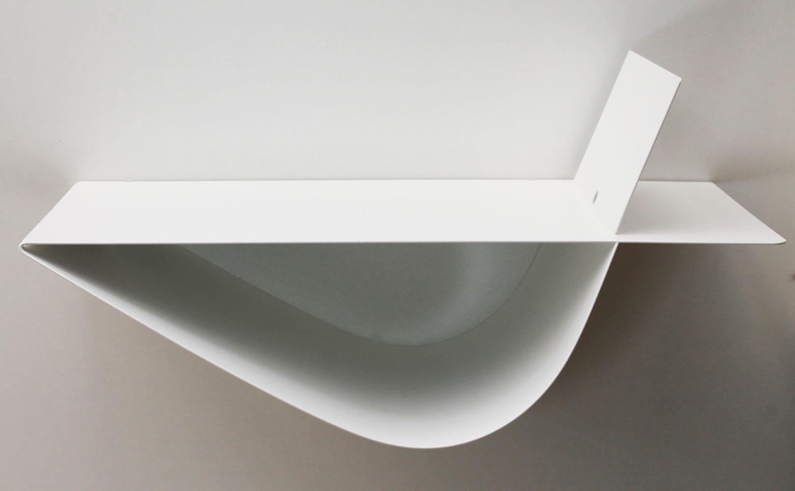 Chevets suspendus design table de chevet blanche moderne lot de 2