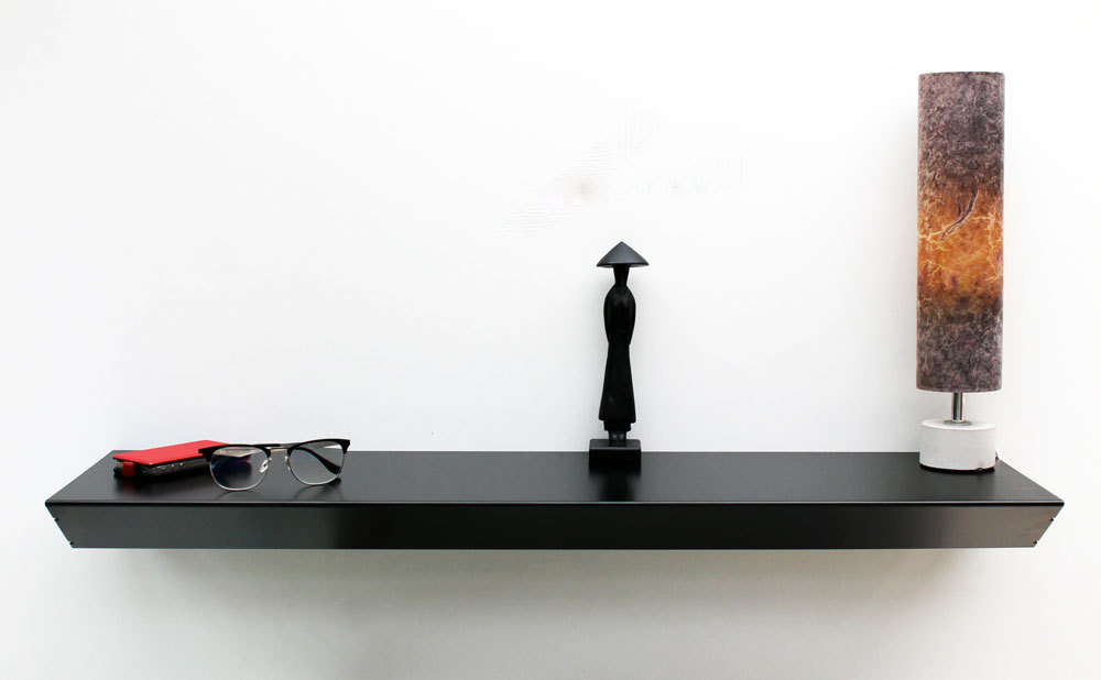 console suspendue noir meuble console murale moderne table design. Black Bedroom Furniture Sets. Home Design Ideas