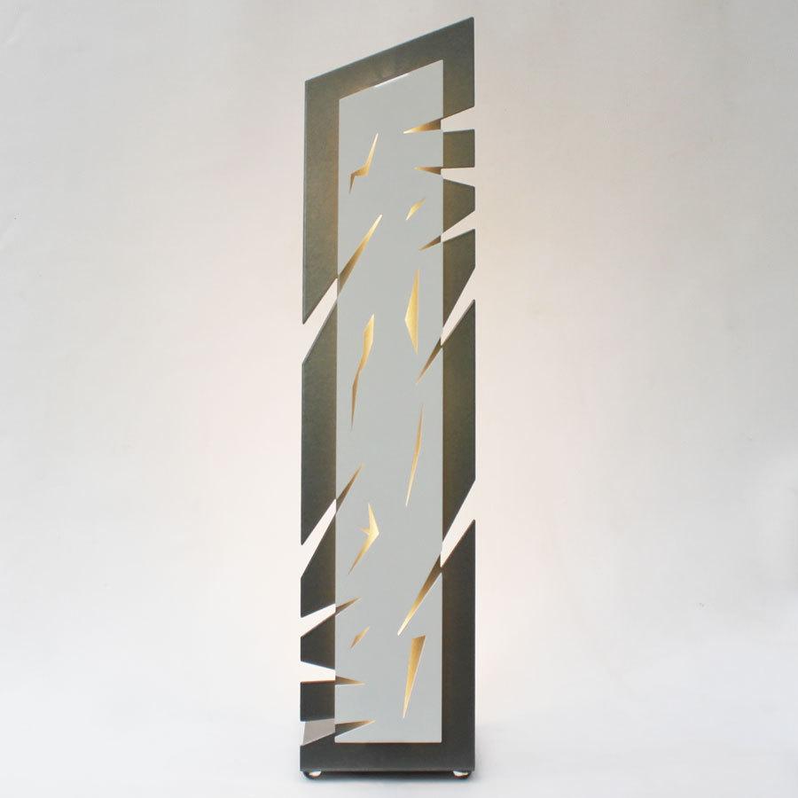 Blanc Design À Poser De Lampe Objectal Salon Gris jLR5A34